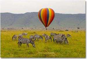Y.O.L.O-  hot air balloon ride in Kenya